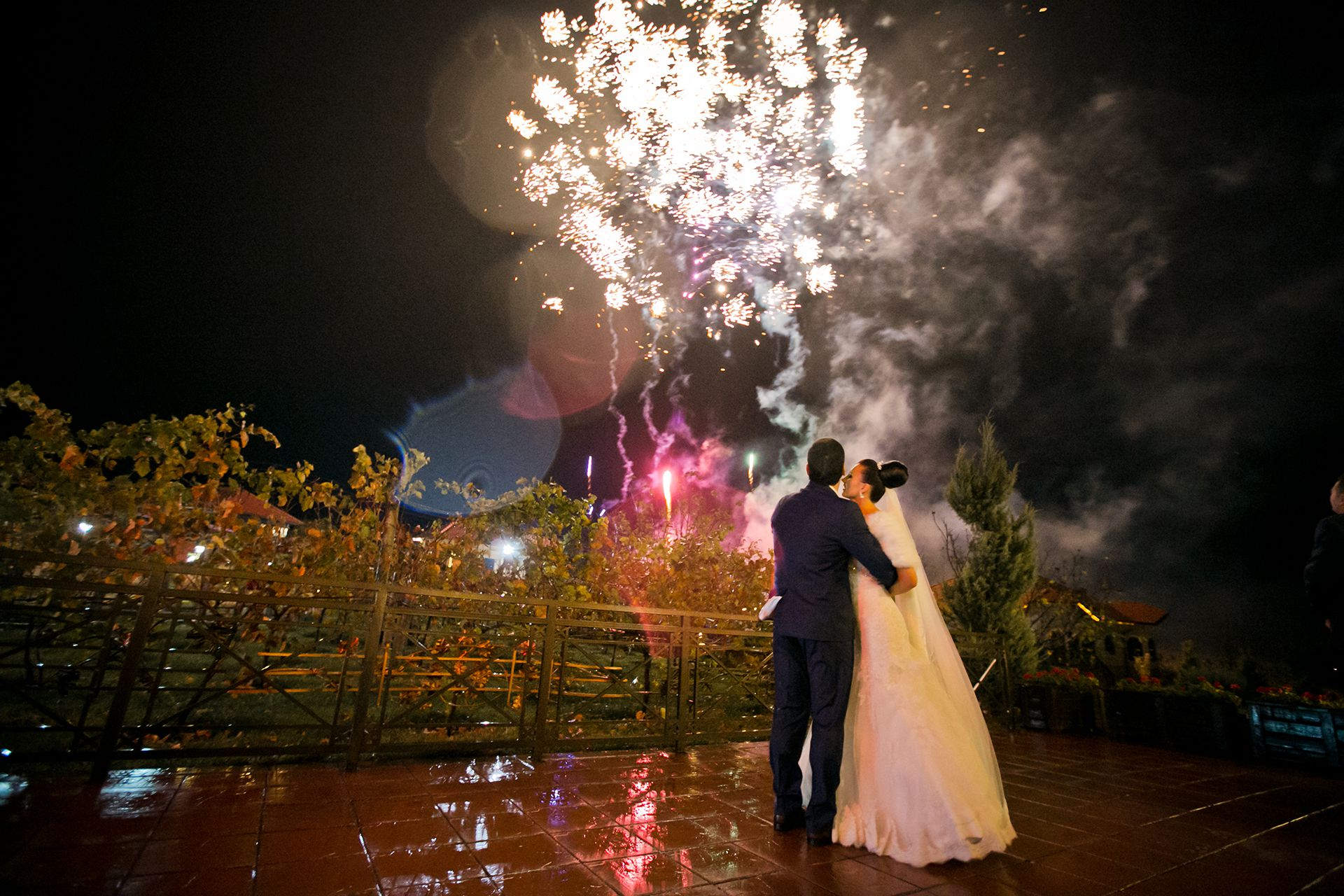 Matrimonio con Fuochi d'artificio